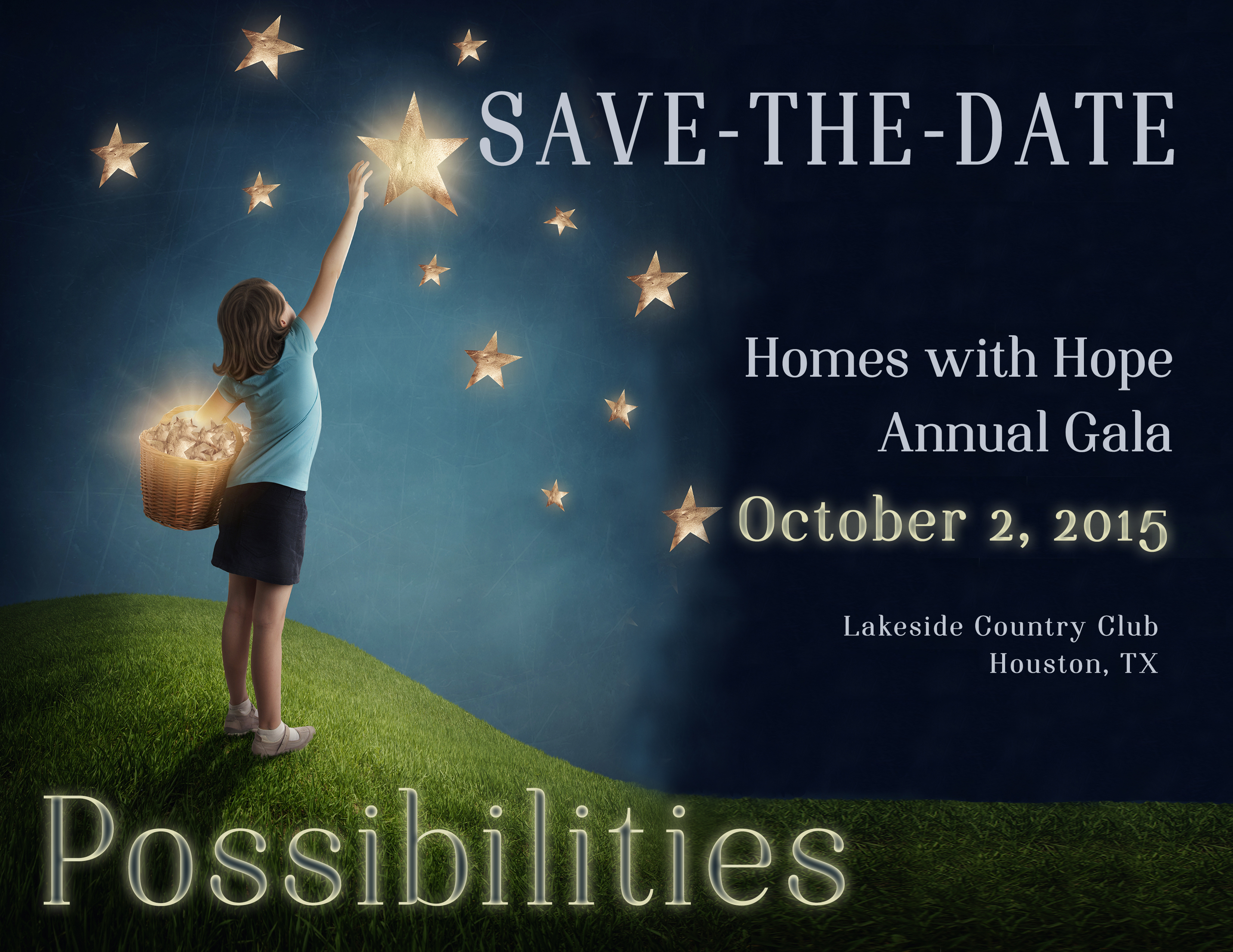 2015 Gala Possibilies - Save the date horizontal