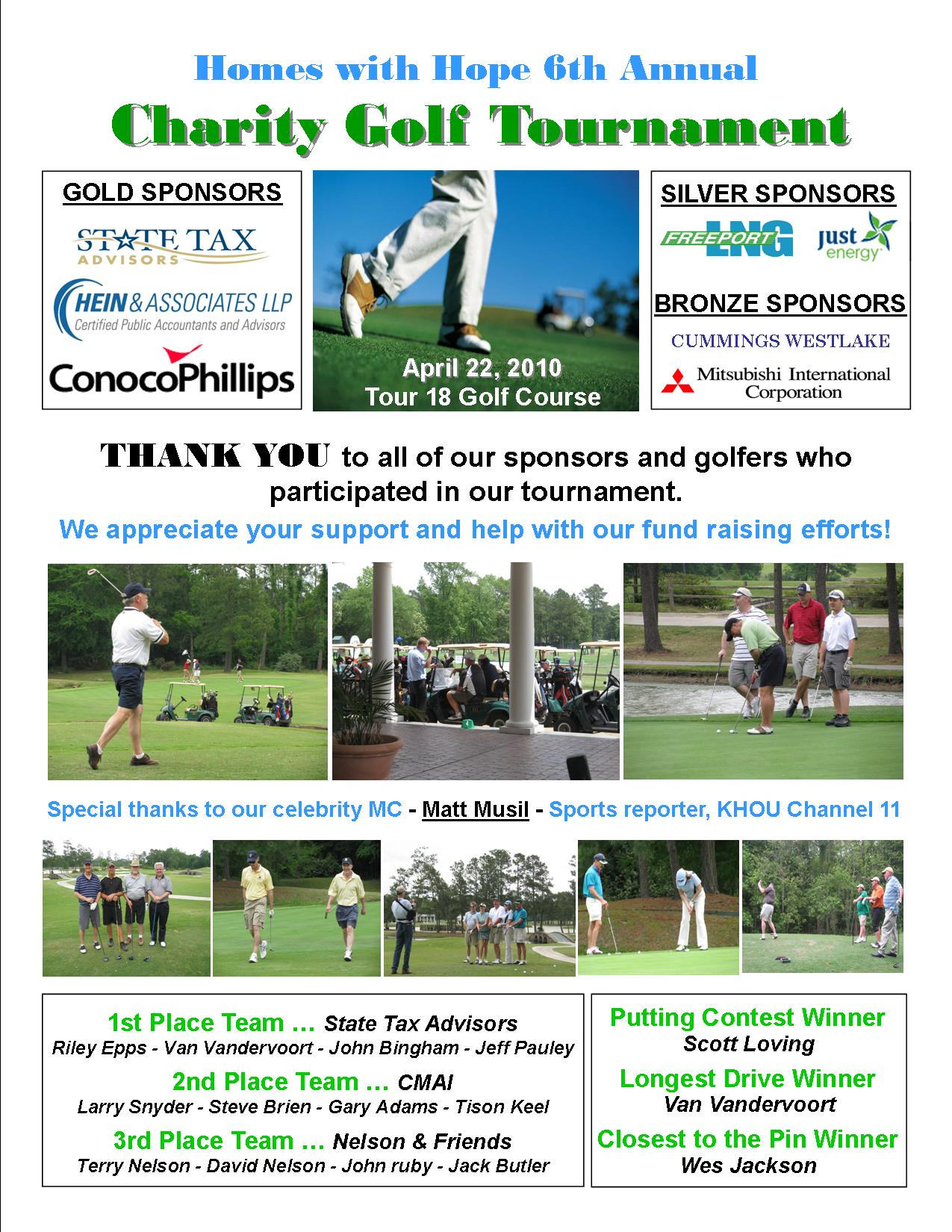Photo thank you page  GOLF 2010