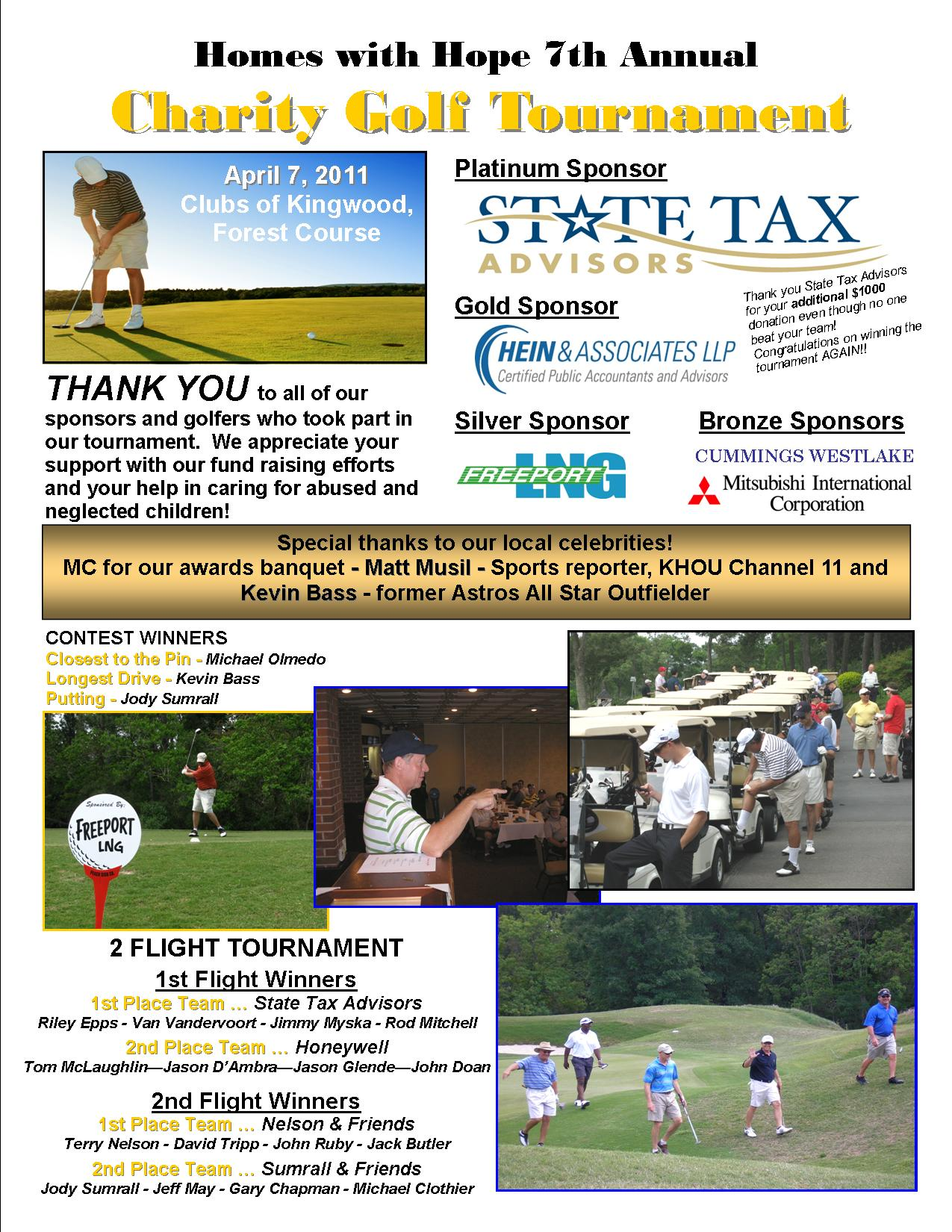 Photo thank you page  GOLF 2011